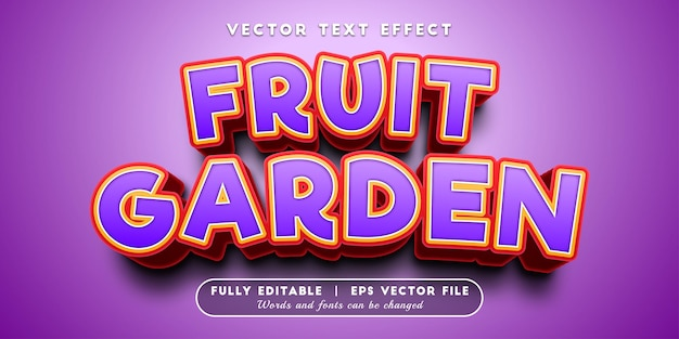 Fruit garden text effect with editable text style