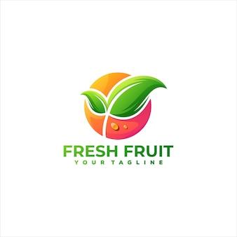 Fruit gradient color logo design