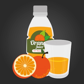 Fruit healthy food illustration