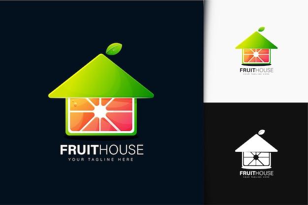 グラデーションのフルーツハウスのロゴデザイン