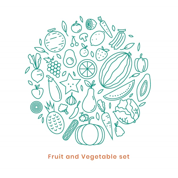 Fruit icon design on vector