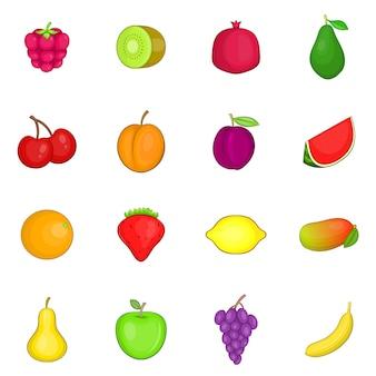 フルーツのアイコンを設定