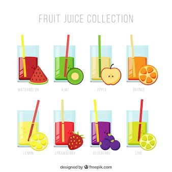 フルーツジュースのコレクション