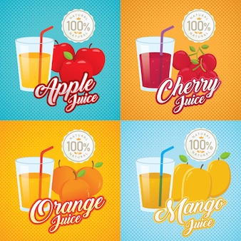 Fruit juice illustration