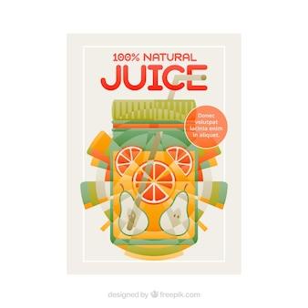 과일 주스 포스터