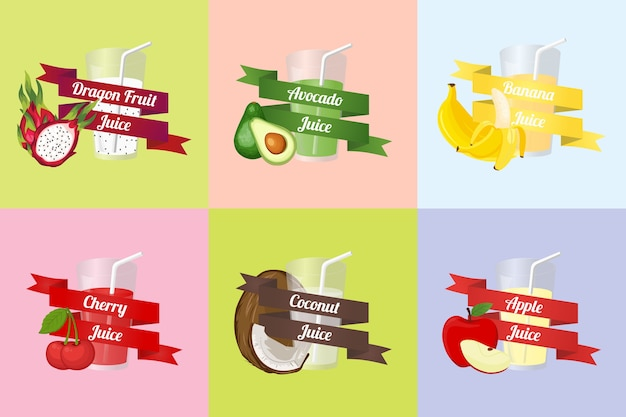 Fruit juice vector