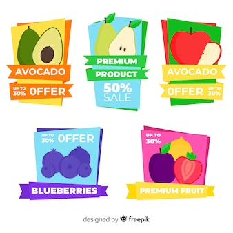 Fruit label collection