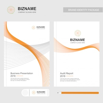 Fruit logo and annual report template