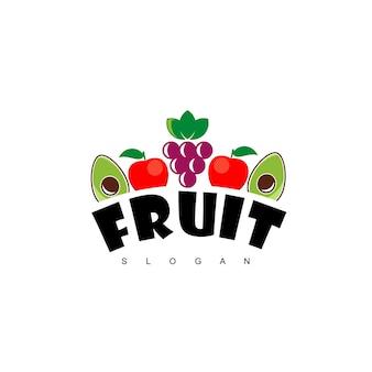 フルーツロゴデザインベクトル