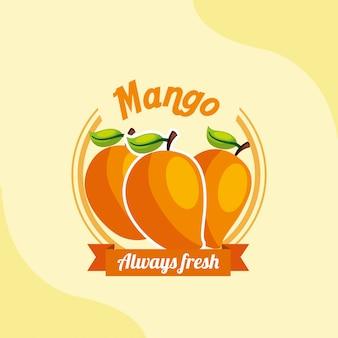Fruit mango always fresh emblem