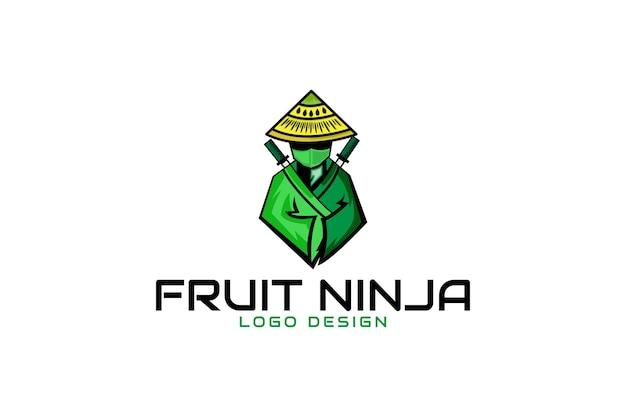 Фруктовый логотип ниндзя