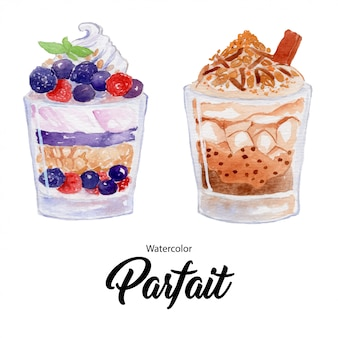 Fruit parfait dessert  in a glass