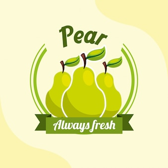 Fruit pear always fresh emblem