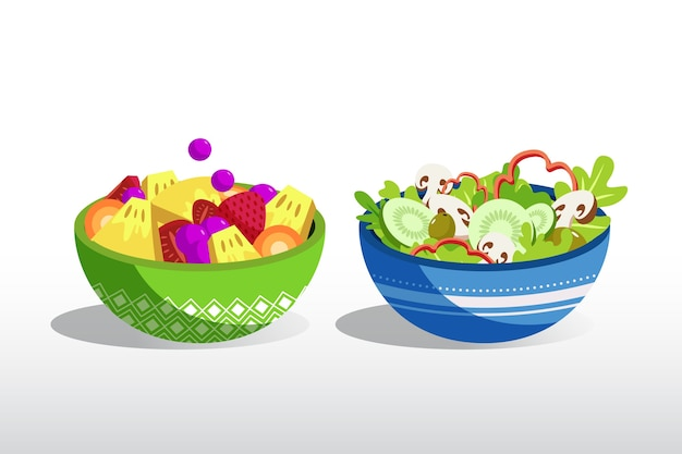 Fruit and salad bowls design