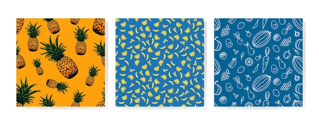 과일 원활한 패턴 아트 디자인
