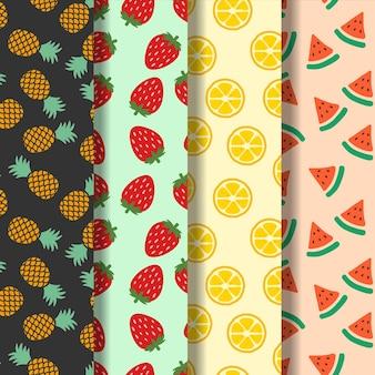 フルーツのシームレスなパターンの背景