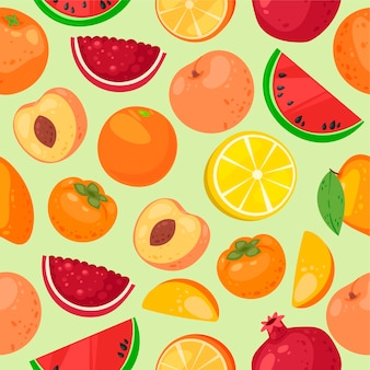 Fruit seamless pattern.ganic and natural  food products.