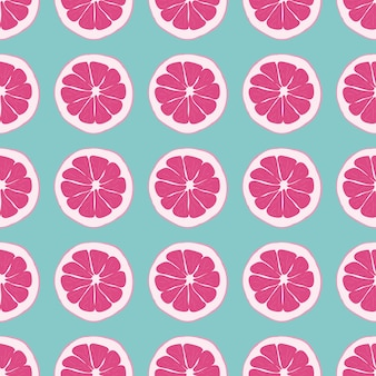 Fruit seamless pattern with orange.