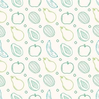 フルーツのシームレスなパターン