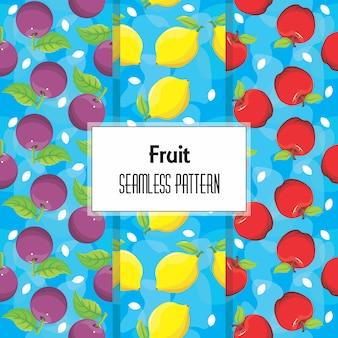 Бесшовный фон из фруктов
