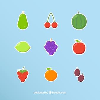 Collezione di adesivi frutta