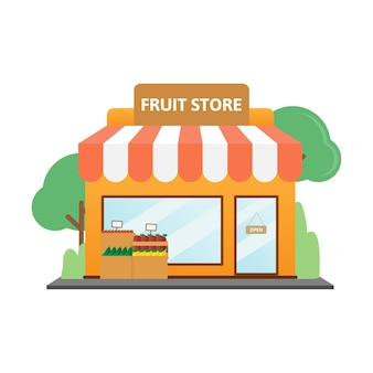 Fruit store flat design
