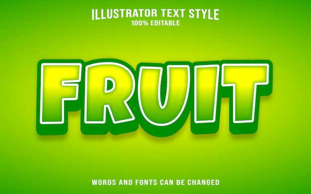 Fruit text style