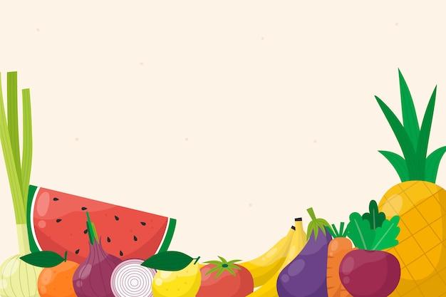 Fruit and vegetables background design