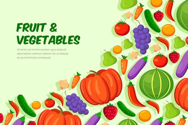 Carta da parati con frutta e verdura