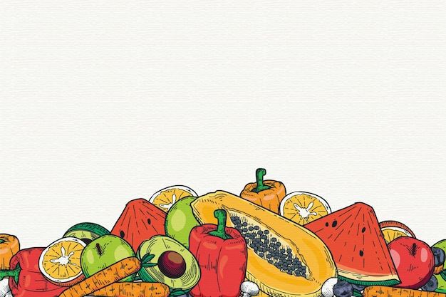 Fruit and vegetables wallpaper