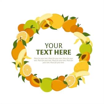 Fruit wreath template