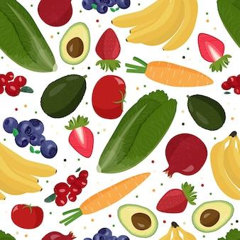 Фрукты и овощи фон.