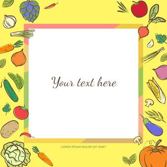 果物や野菜のバナーの背景
