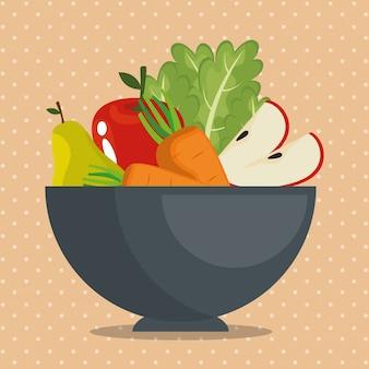 과일과 채소 건강 식품