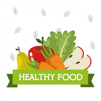 Фрукты и овощи здоровое питание