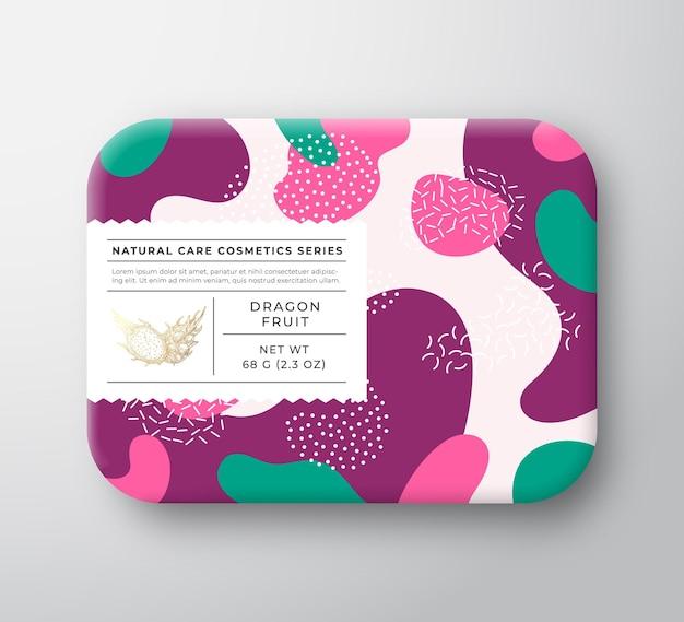 과일 목욕 화장품 상자 포장 종이 용기 케어 라벨.