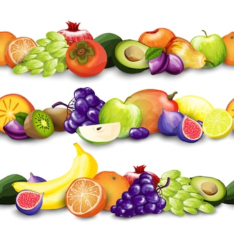 Fruits borders illustration
