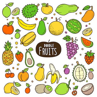 Fruits cartoon color illustration