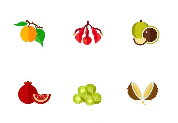 Коллекция иконок для фруктов