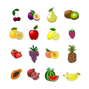 Fruits icons set