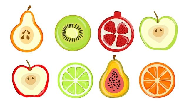 Концепция коллекции иллюстрации фруктов