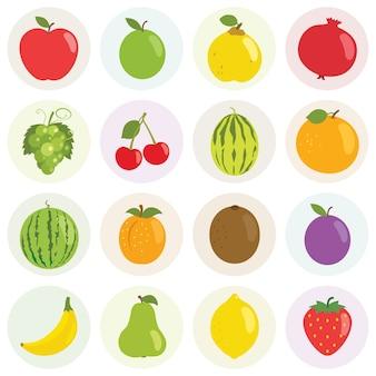 Fruits illustration set