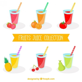 Fruits juice collection
