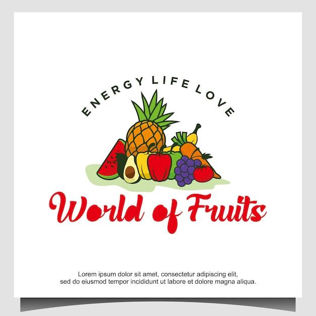 Дизайн логотипа фрукты