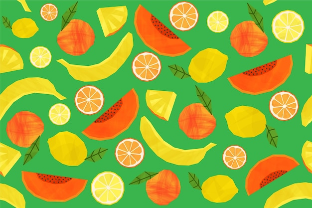 Fruits pattern collection concept