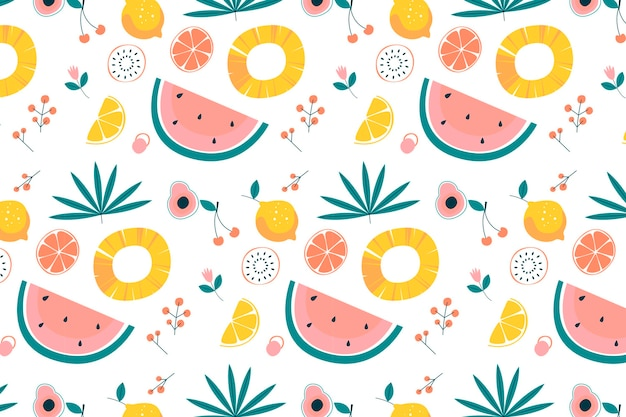 Fruits pattern collection design