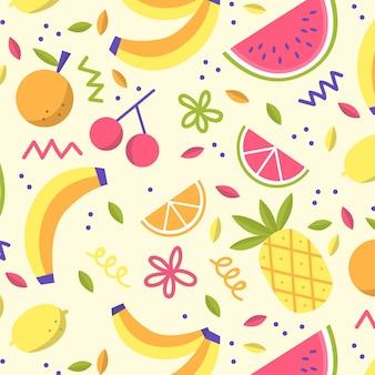 Collezione di modelli di frutta