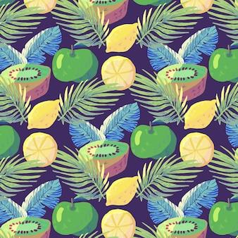 Концепция шаблон фрукты