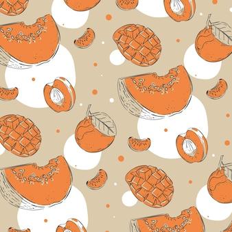 Fruits pattern pack design