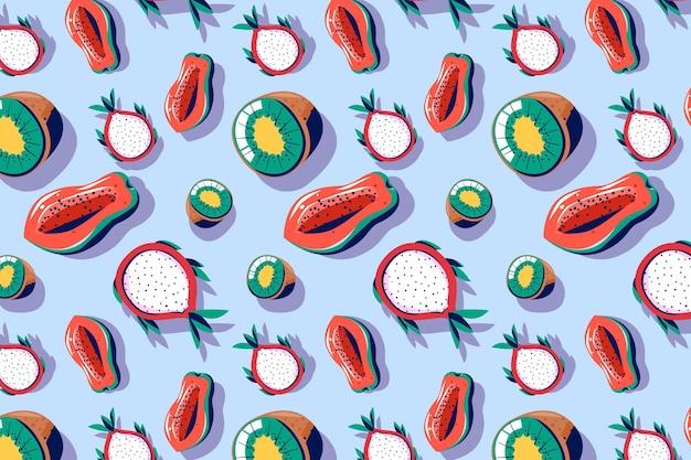 フルーツ柄パック